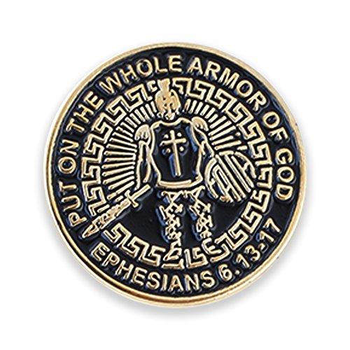 Forge Armor of God Enamel Lapel Pin + Tie Bar + Cufflinks (Gold Lapel Pin)