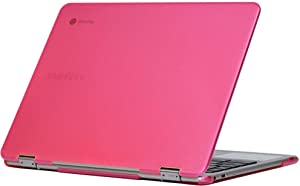 """mCover Hard Shell Case for 2018 12.2"""" Samsung ChromeBook Plus XE521QAB XE525QBB series (NOT Compatible with older XE513C24 / XE510C24 / XE303C12 / XE500C12 / XE503C12 models) laptop - PINK"""
