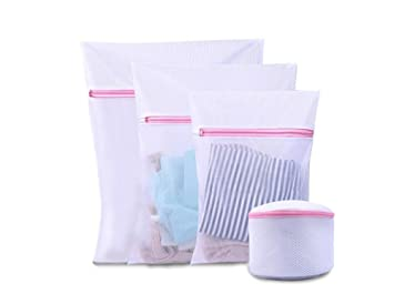 Freedi Laundry Bags Mesh Washing Machine Delicates Travel Lingerie Stocking Bra Organizer Wash Bag Set of