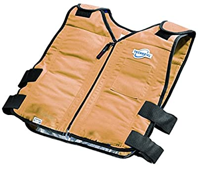TechKewl Cooling Vest - Phase Change Tech that will change your mind about the heat! - KHAKI-SM/MED