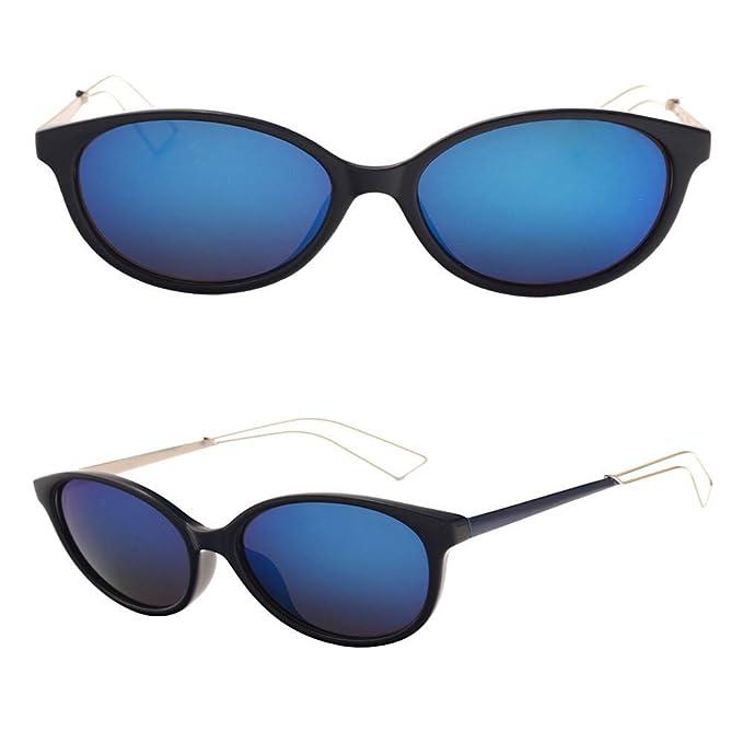 SenDi Gafas de sol -Gafas de sol de moda para mujer, azules ...