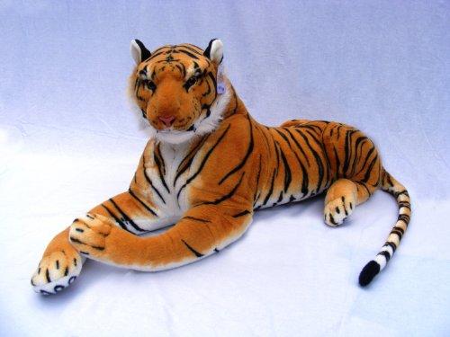 Best Made Toys Giant Stuffed Tiger Animal Big Orange Tiger Plush, Large - Giant Tiger