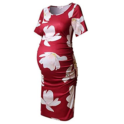 df1096ff9af15 Amazon.com: Maternity Sleeveless Dress - Pregnant Women Sexy Floral Fashion  Dress: Garden & Outdoor