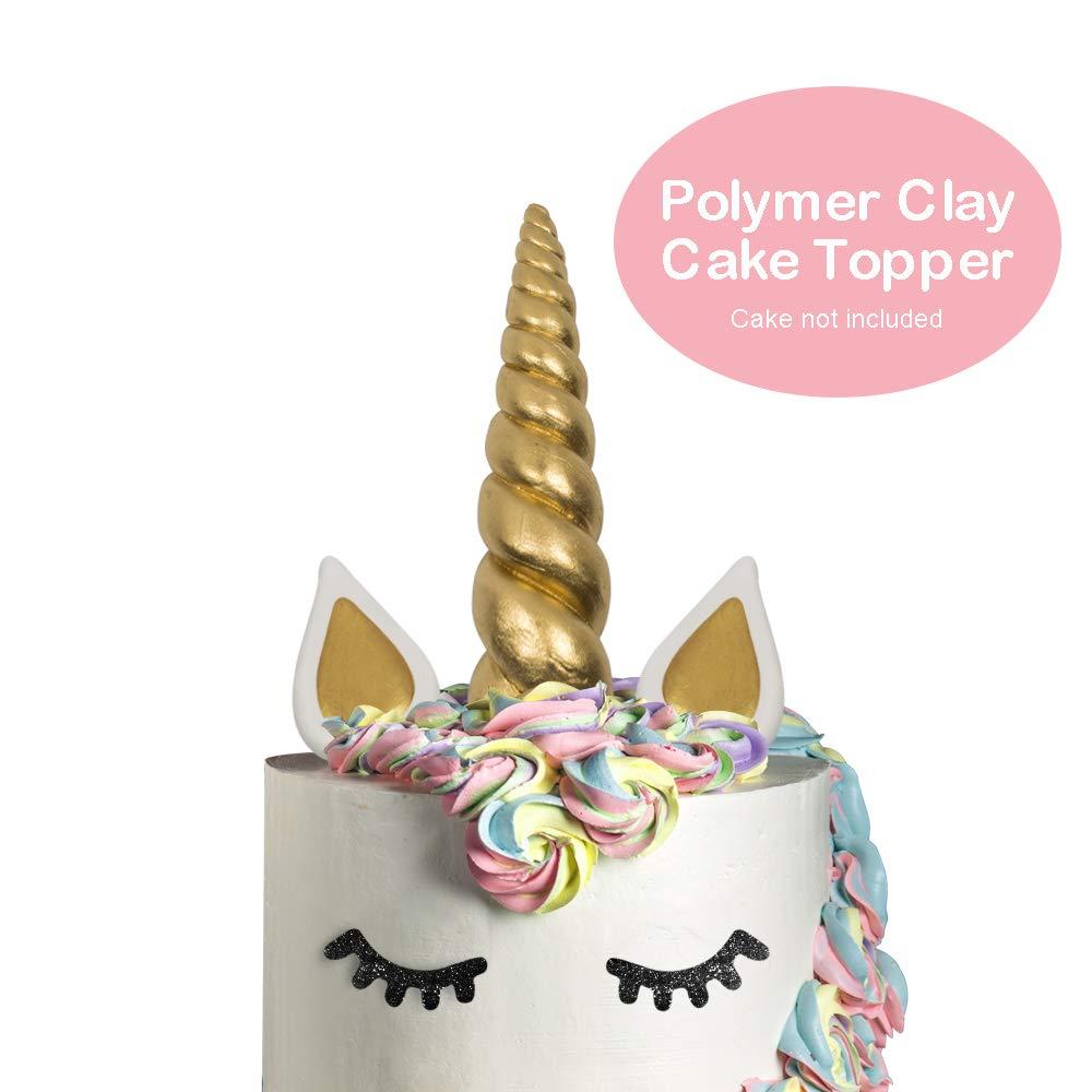 Unicorn Cake Topper | Unicorn Cake Topper Set with Eyelashes and Happy Birthday Banner | Unicorn Birthday Party Decorations | Unicorn Birthday Smash Cake | Premium Quality (Unicorn Cake Topper)