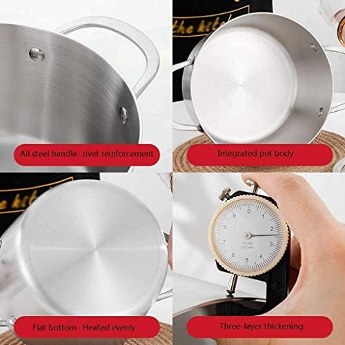 Melk Pan, steelpan met deksel, saus Pan met glazen afdekplaat, chocolademelk Pan Stainless Steel Pan Butter Sugar Melting Pot HAOSHUAI