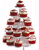5 Tiered Tower White Cupcake Holder Stand