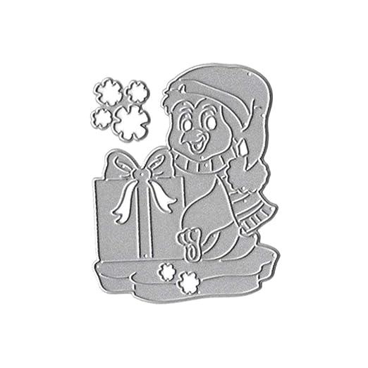 Plantilla de troquelado para regalo de Navidad, sello de ...