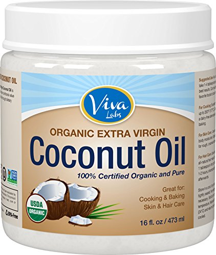 Viva Labs The Finest Organic Extra Virgin Coconut Oil, 16