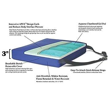 Amazon.com: Cojín de asiento de espuma con flotación de gel ...