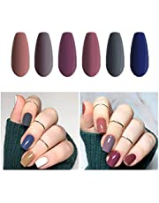 Vishine Fall-Winter Gel Nail Polish Set - 6 Colors Grey Purple Gel Polish Kit Nail Gel Polish Set, Soak Off UV LED Nail Gel Required, 8ml Each Bottle Gel Nail Art