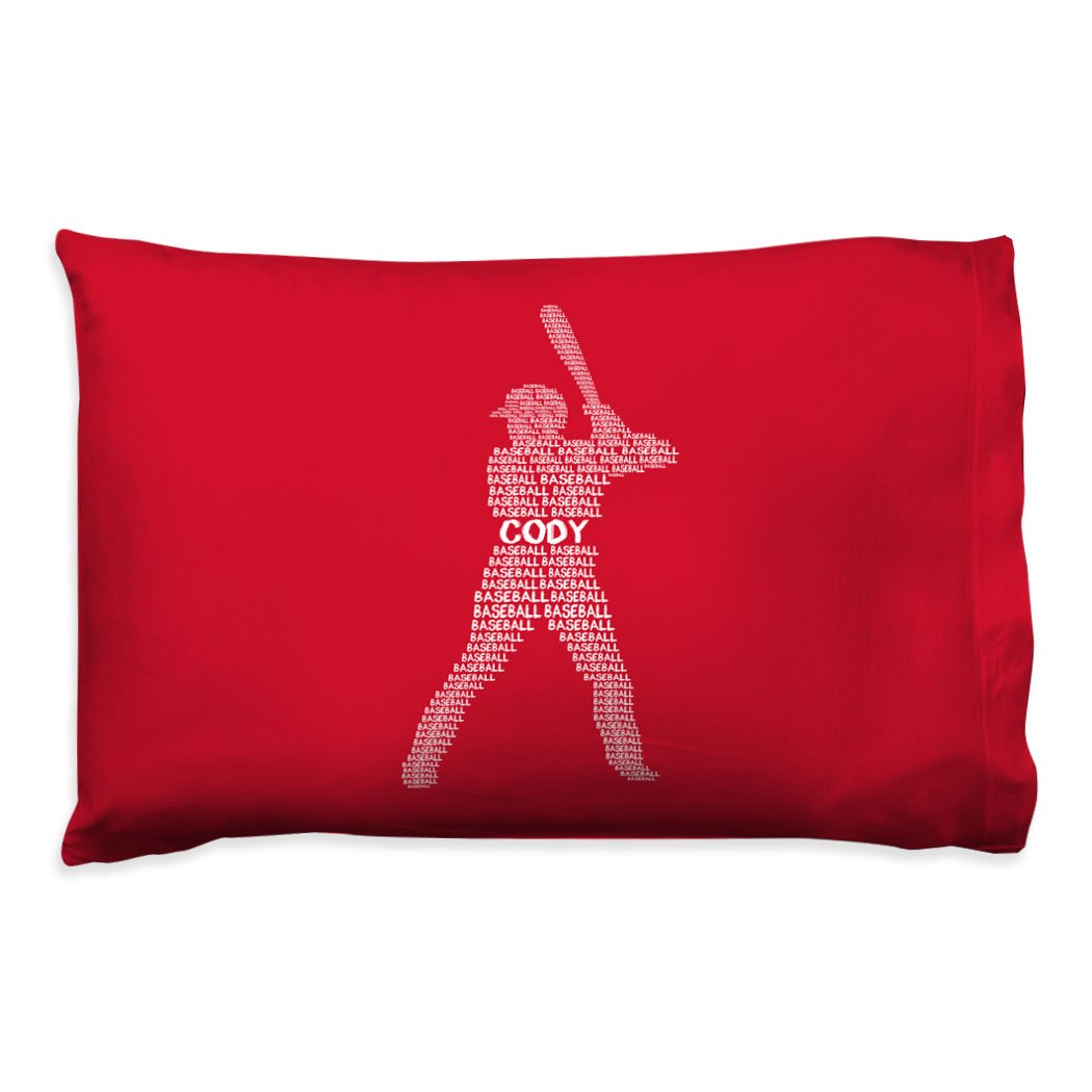 Amazon.com: Personalized Player Words Baseball Pillowcase ...