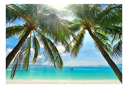 wall26 - Large Wall Mural - Tropical Scenery with Palm Trees | Self-Adhesive Vinyl Wallpaper/Removable Modern Decorating Wall Art - 66