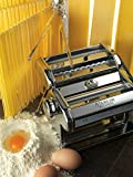 Marcato Atlas Pasta Machine, Stainless Steel, Silver, Includes Pasta Cutter, Hand Crank, and Instruction