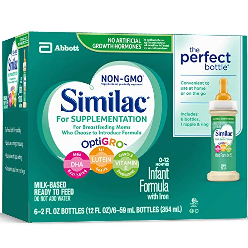 Similac For Supplementation Infant Formula with Iron, Ready-to-Feed Bottles, 2 Ounce, (Pack of 48) by Similac For Supplementation (Image #5)