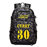 YOURNELO Boy's Camouflage Basketball Player Leisure Shoulder Bag Rucksack School Backpack Bookbag (Curry 1) For Sale
