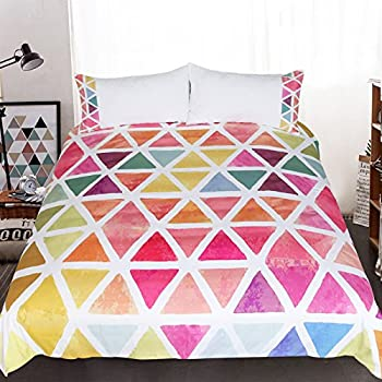 Amazon Com Sleepwish Chic Rainbow Colors Triangle Duvet
