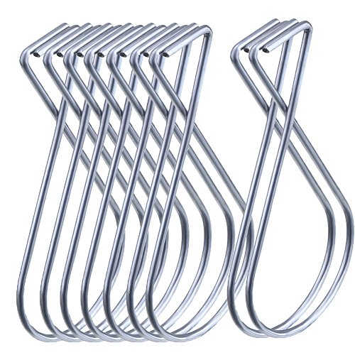 Hraindop 100 Pack Ceiling Hook Clips Ceiling Hanger Hooks for Office, Classroom and Home Decorations
