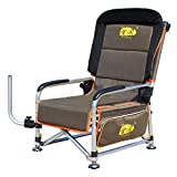 Portable Fishing Chair | XL Heavy Duty Camping Recliner Chair | Adjustable Legs | Ideal for Carp Fishing Equipment - Khaki