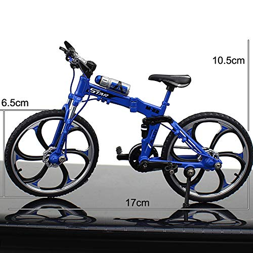 [해외]SUPER-TECH Cross-Border Creative Alloy Model Simulation Bicycle Ornaments Mini Bicycle Toy Gift Bicycle ModelFolding Mountain Bike Blue / SUPER-TECH Cross-Border Creative Alloy Model Simulation Bicycle Ornaments Mini Bicycle Toy Gi...