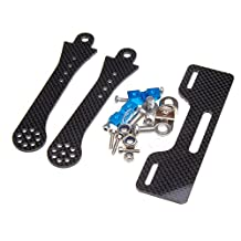 T-Trees 7-8 inch FPV LCD Monitor Mount Bracket to Futaba/JR/WFLY Transmitter with Metal Bar