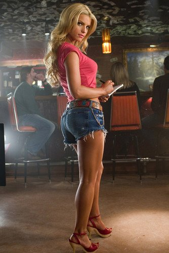 Jessica Simpson hot leggy pose in Daisy Duke shorts 24x36 pin-up Poster