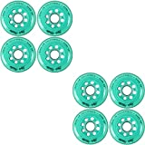 Labeda Inline Roller Hockey Skate Wheels Addiction Teal 80mm Set of 8