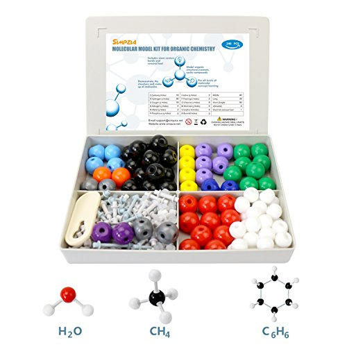 Bond Removal (SIMPZIA Chemistry Molecular Model Kit 240 Pcs Molecular Modeling Student Kit for Organic and Inorganic Chemistry Science Study with 153 Bonds,86 Atoms, & a Removal Tool)