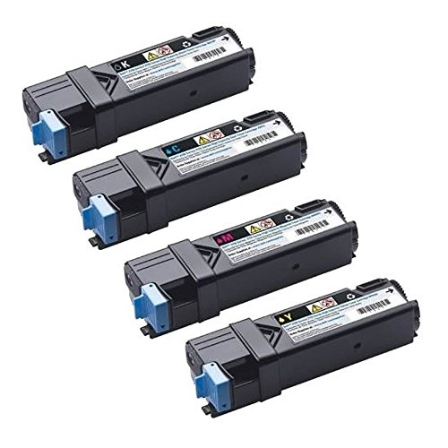 GLB © High Quality Dell 2150 High Yield Compatible Toner Cartridges SET - Dell 2150CN 2150CDN 2155CN 2155CDN -High Yield- Black 331-0719 Cyan 331-0716 Magenta 331-0717 Yellow 331-0718 For Use in Dell Color Laser 2150, Color Laser 2150CDN, Color Laser 215