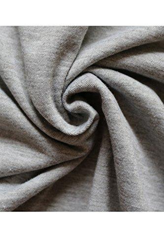 La Al A Scollo Nimpansa Merletto V Lo Svuotare Maglietta Con Corto Donne Occasionale Grey Vestito xqSFzT