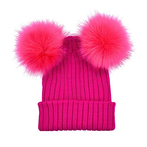URIBAKE ❤ Women's Crochet Beanie Cotton Knitted Winter Warm Solid Hats Hairball Cap Multi Color -