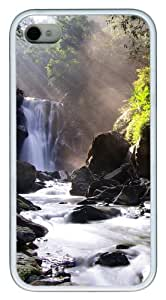 iPhone 4S Case, Nei Dong Waterfall TPU Custom iPhone 4/4S Case Cover Whtie