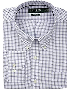 Lauren Ralph Lauren Mens Classic No Iron Button Down with Pocket Dress Shirt