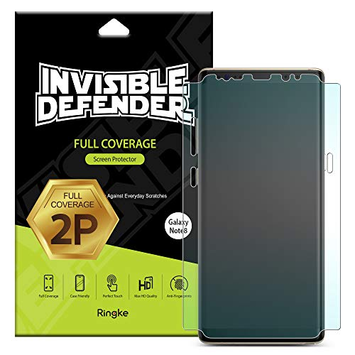 Ringke Invisible Defender [Full Coverage] [2 Pack] Compatible con Samsung Galaxy Note 8, Protector de Pantalla Borde a Borde Pantalla Completa Borde Curvo ...