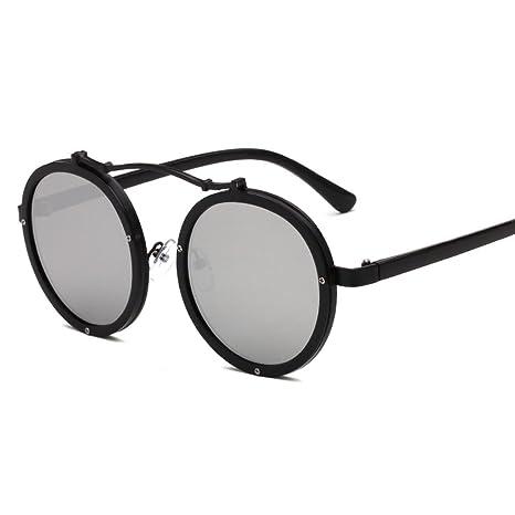Wkaijc Retro Mode Kreativ Bequem Elegant Rund Straße Schießen Sonnenbrillen Sonnenbrillen ,E