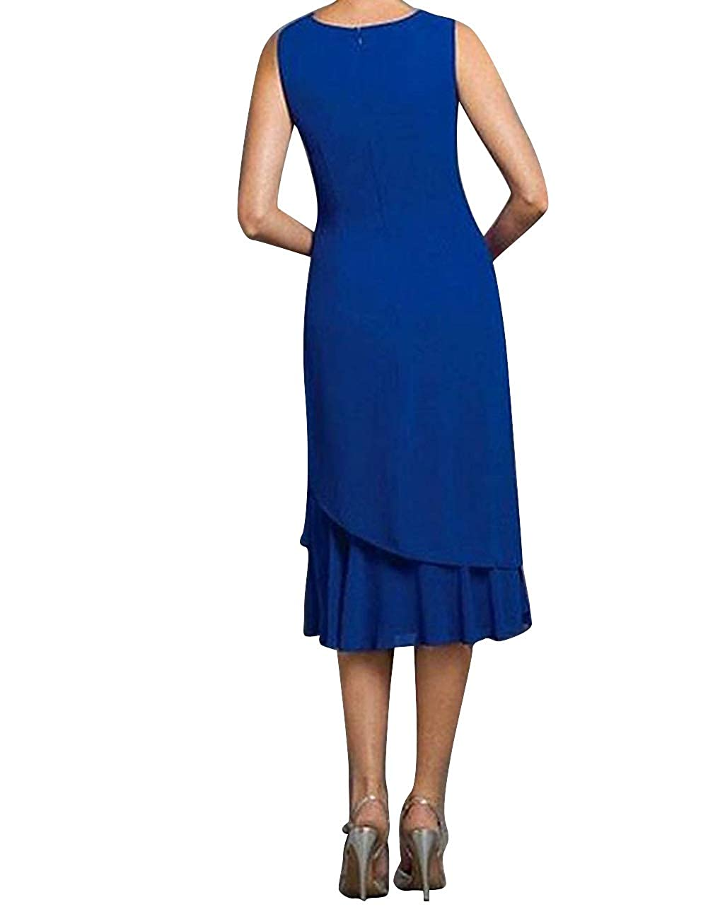 Mother The Bride Dresses Formal Party Evening Gowns Jacket Womens Ruffles Modest