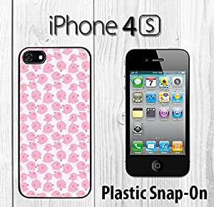 Cute Pig Pattern Custom made Case/Cover/skin FOR iPhone 4/4s -Black- Plastic Snap On Case ( Ship From CA)