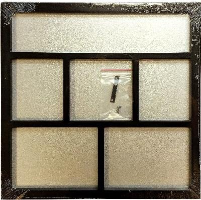 Foundations Decor Magnetic Shadow Box-Black 12''X12'' by Foundations Decor