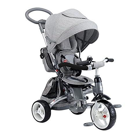 Cochecito Triciclo con asiento reversible 6 n 1. Color: gris ...