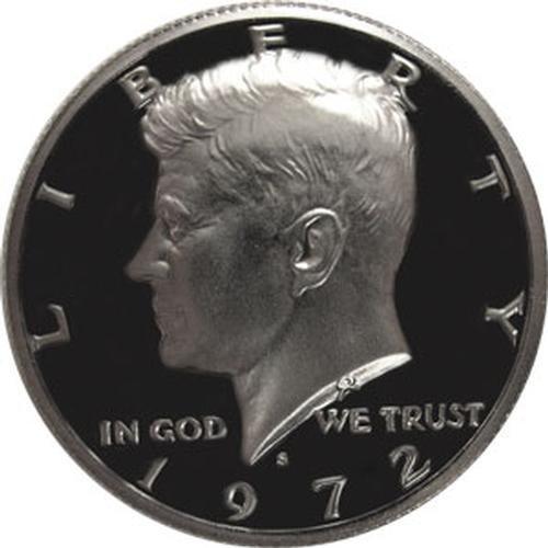 1972 S Gem Proof Kennedy Half Dollar US Coin