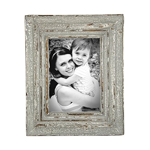 Icrafts Vintage Wooden Single Picture Photo Frame Tabletop Holder with Stand Hand Carved Design Home Décor |Handmade|(7X5 in) (7 Inch Rosewood Picture Frame)
