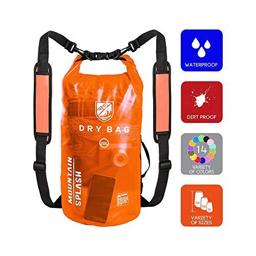 Waterproof Bag-Dry Bag-Waterproof Backpack-Dry Bags-Dry Sack-Dry Pack-Waterproof Bags-Kayak Bag-Boat Bag-Dry Backpack-Camping Gear Bag-Bag Waterproof-Dry Bag Backpack-Wet Dry Sack (20L, Lava)