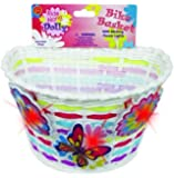 Bike Basket with Lightups - Kid's Bicycle Basket with Three Motion Activated Blinking Flowers