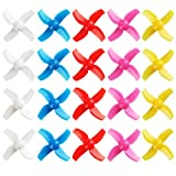 20pcs 40mm Four-Blade 4 Blade Propellers for Inductrix FPV Plus Tiny 7X Mini FPV Racing Drones Multirotors Quadcopters