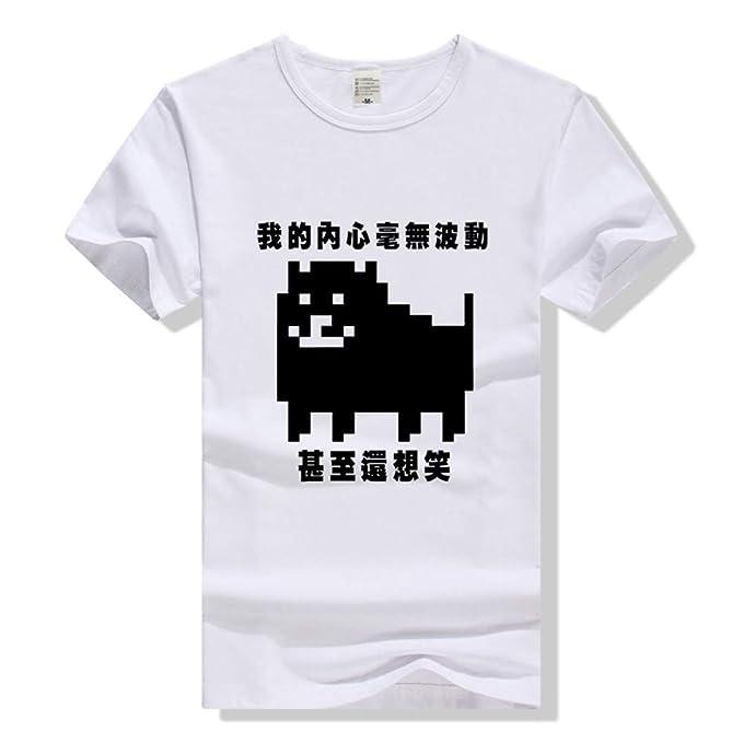 Unisex Undertale Casual Camiseta Transpirable Manga Corta Impreso Vintage Sudaderas Camiseta Simple para Hombres y Mujeres Top de algodón Puro: Amazon.es: ...