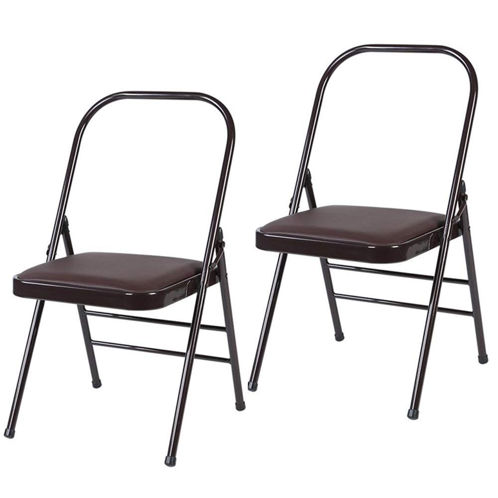 Amazon.com: QQXX Folding Chairs Reinforced Yoga Chair ...