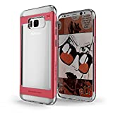 Galaxy S8 Plus Case, Ghostek Cloak 2 Series for Samsung Galaxy S8 Plus 2017 Slim Protective Hybrid Armor Shock Drop Protection Cover | Transparent | Screen Protector | Ultra Fit | TPU + Aluminum Frame (Red)