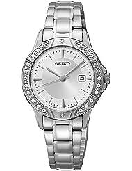 Seiko Three-Hand Silver-Tone Stainless Steel Womens watch #SUR853