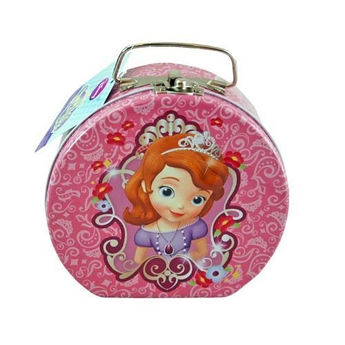 (Disney Princess Sofia the First Semi-round Shaped Metal Tin Carrying Case - Lunch Box, Storage)