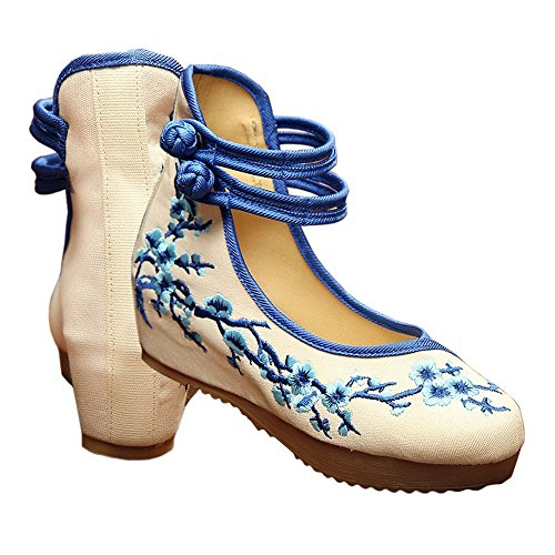 Cloth blue Shoes within Old 39 Plum Blossom Increased Beijing 5OZZawq6