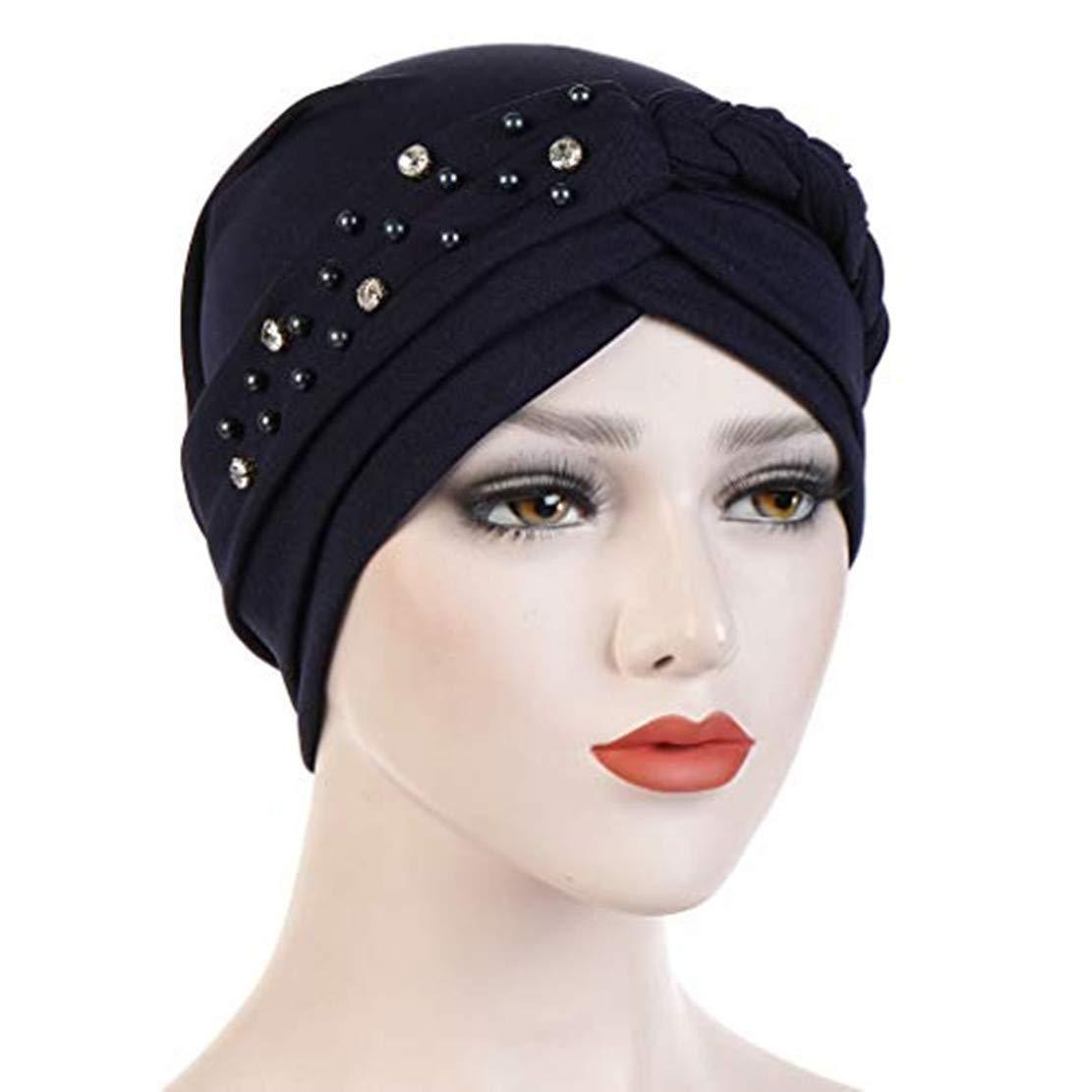 Likecrazy Damen Muslim Turban Muslimisches Kopftuch Stretch Wrap Cap Haarausfall Kopft/ücher Frauen Indien Hut Sommer M/ütze Chemo Krebs Haarausfall Schlaf Make Up